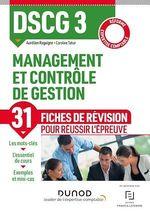 Vente Livre Numérique : DSCG 3 - Management et contrôle de gestion - Fiches de révision  - Caroline Tahar - Aurélien Ragaigne