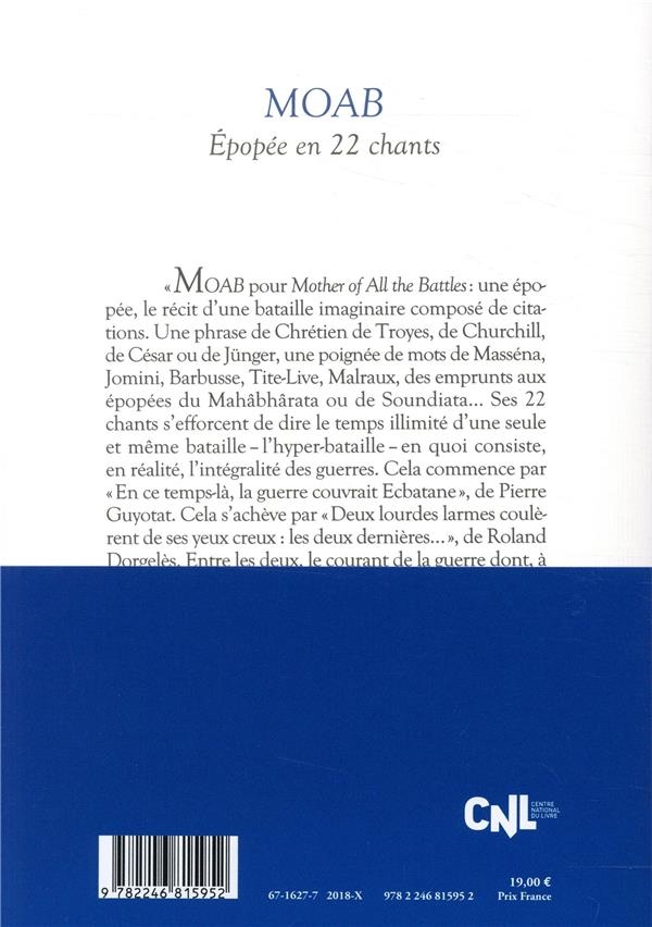 Moab ; épopee en 22 chants