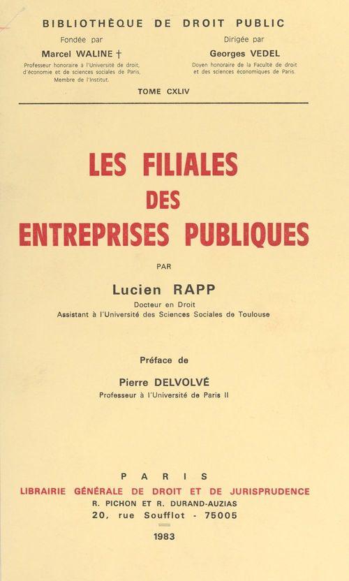 Les filiales des entreprises publiques
