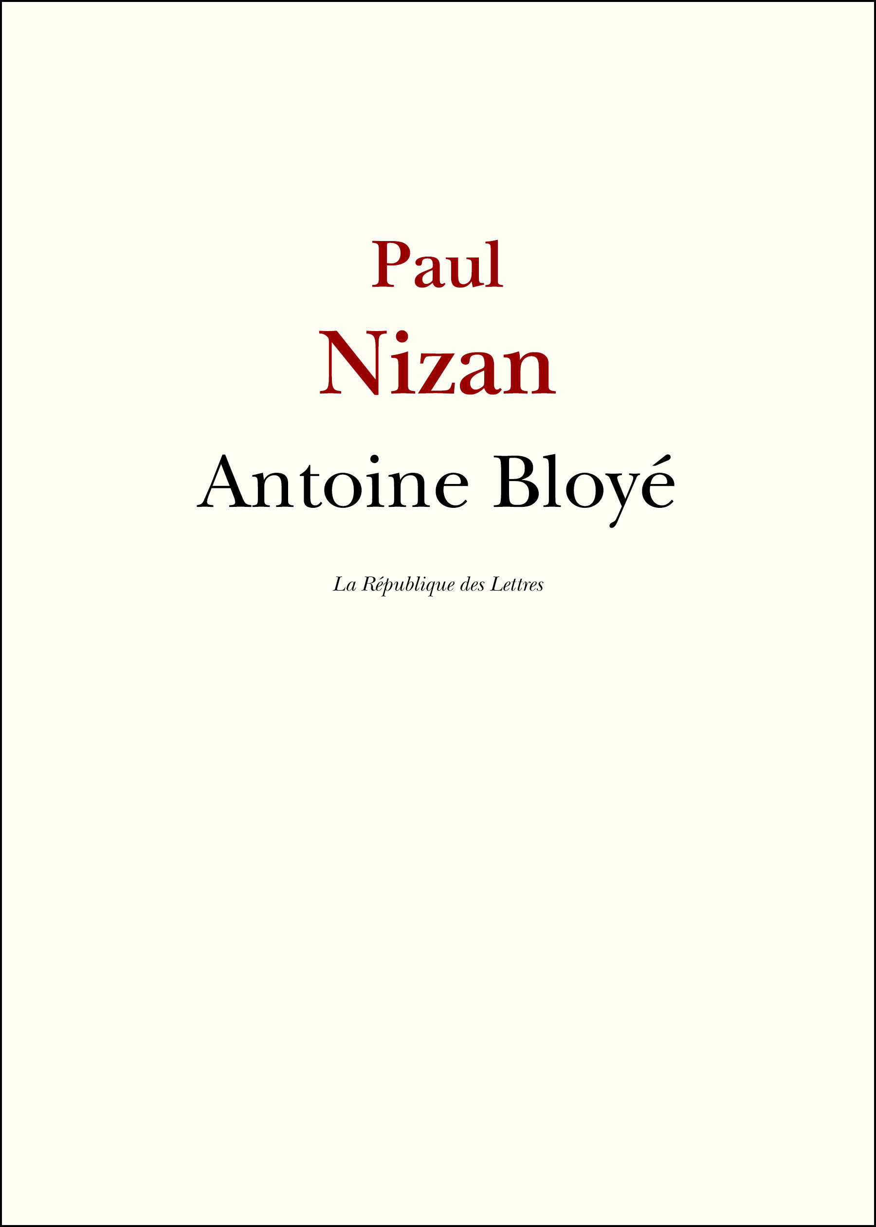 Antoine bloye - (*)