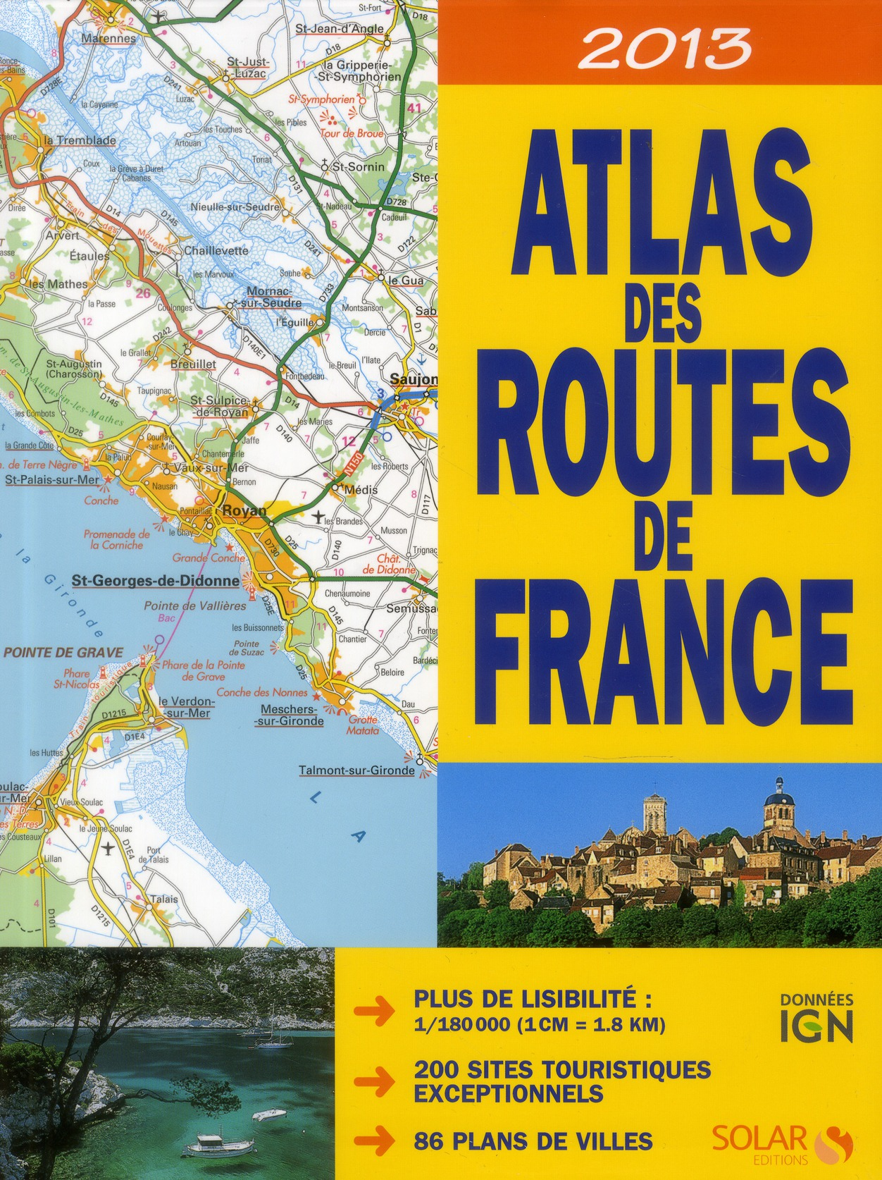 Atlas des routes de france (édition 2013)