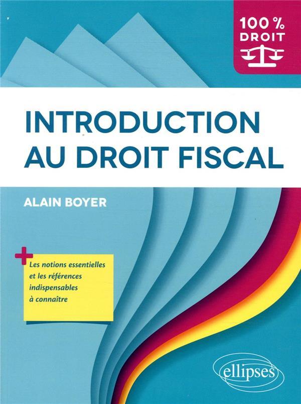 Introduction au droit fiscal