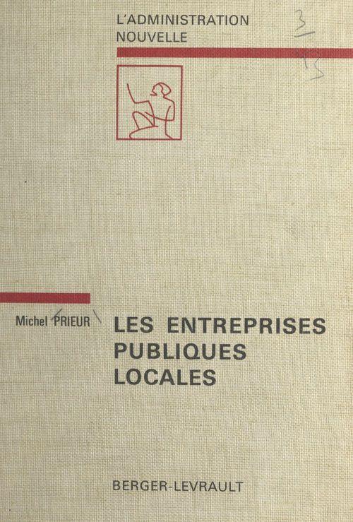 Les entreprises publiques locales