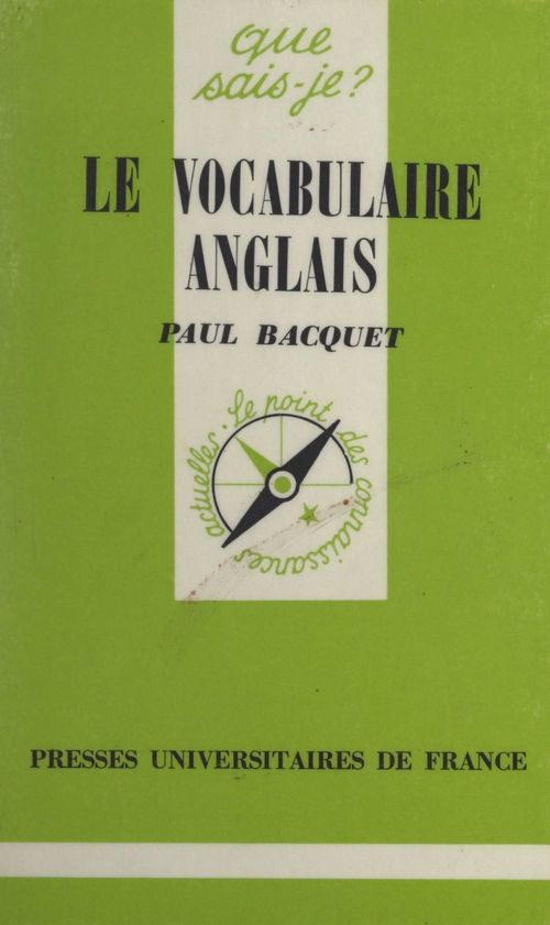 Le vocabulaire anglais