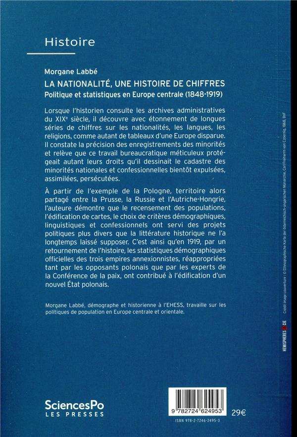 La nationalité, une histoire de chiffres ; politique et statistiques en Europe centrale (1848-1919)