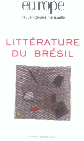 Europe litterature du bresil n -919-920 novembre decembre 2005