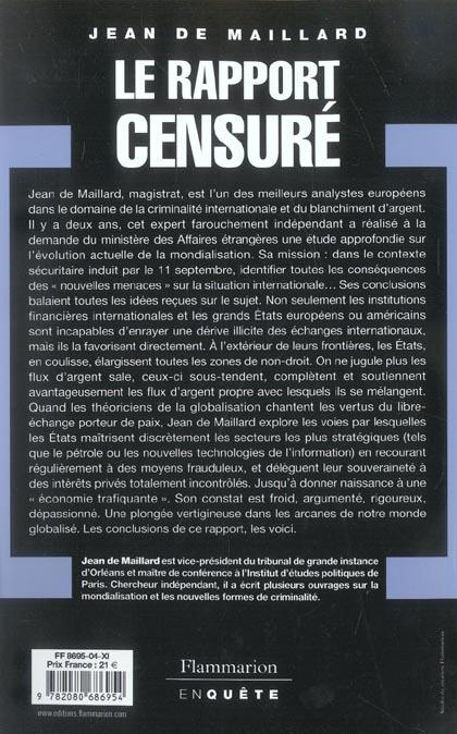 Le rapport censure