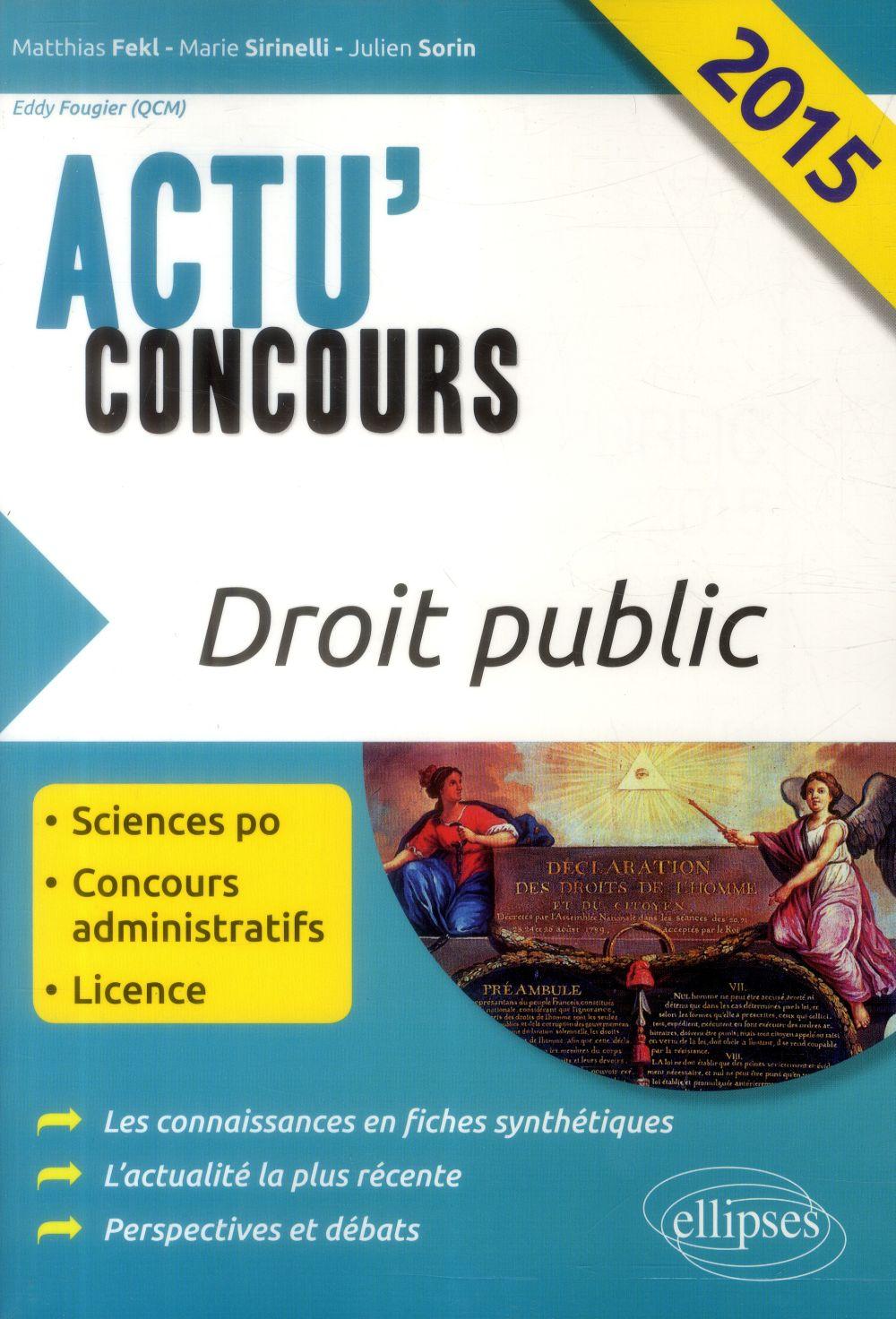 Actu'concours ; droit public (édition 2015)