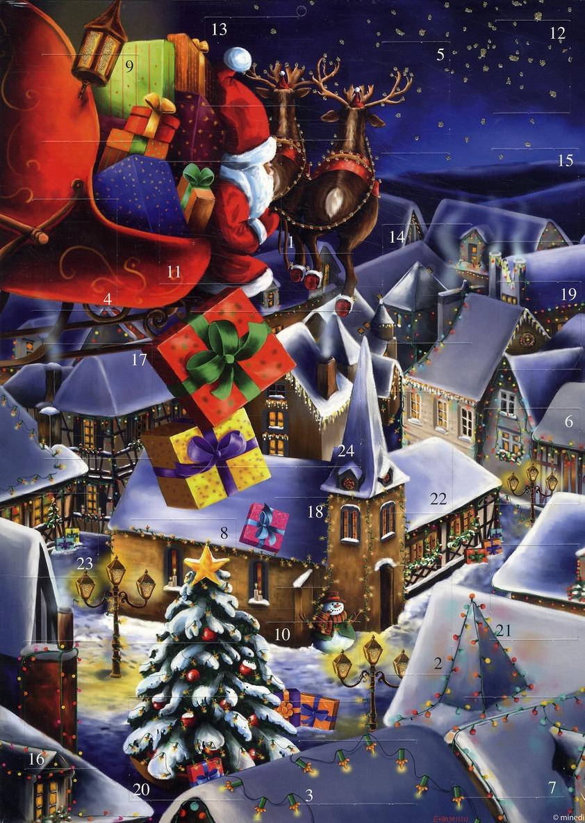 Calendrier de l'avent tournée Père Noël