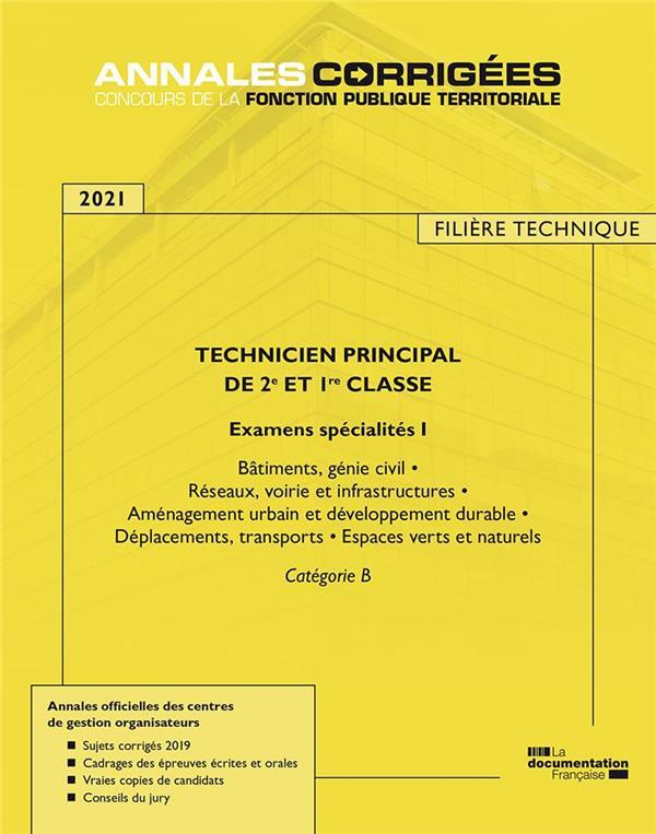 Technicien principal de 1re et 2e classe ; examens spécialité I