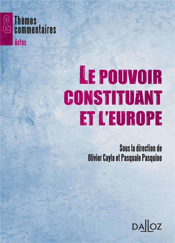 Le pouvoir constituant et l'Europe