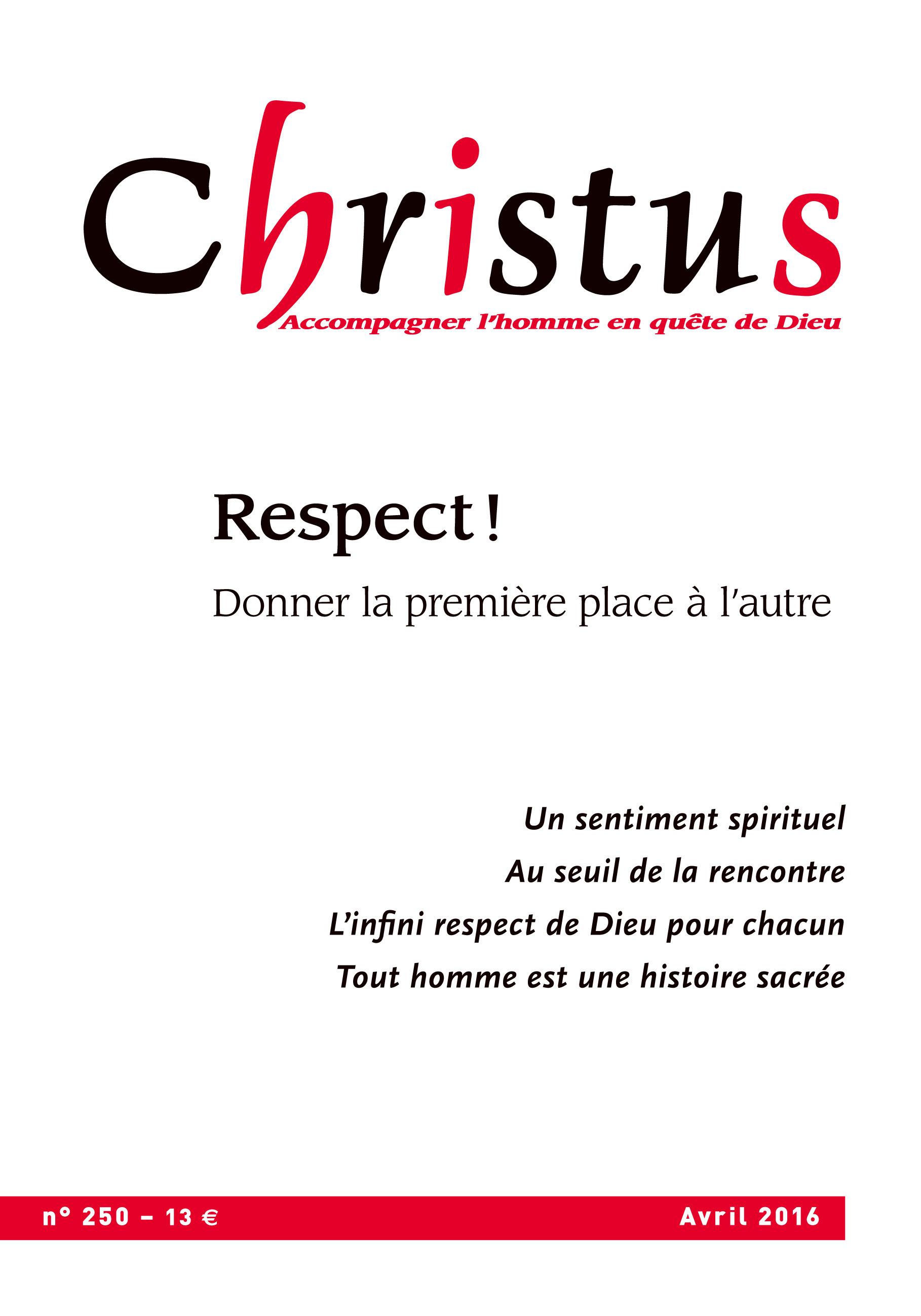 Revue christus N.250 ; avril 2016