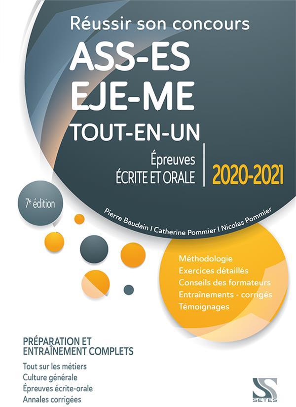 Réussir son concours ASS, EJE, ES, ME ; préparation et entraînement complets ; tout-en-un (édition 2020/2021)