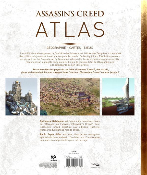 Assassin's Creed ; atlas ; géographie, cartes, lieux