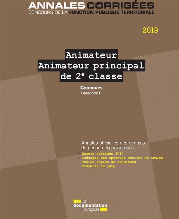 Animateur, animateur principal de 2e classe ; concours catégorie B (édition 2019)