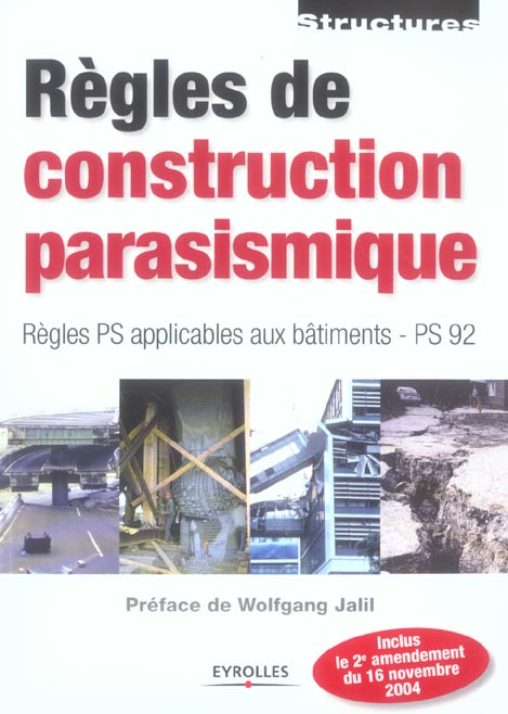Regles De Construction Parasismique ; Regles Ps Applicables Aux Batiments Ps 92