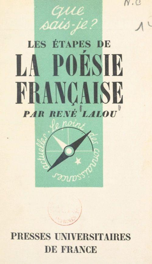 Les étapes de la poésie française
