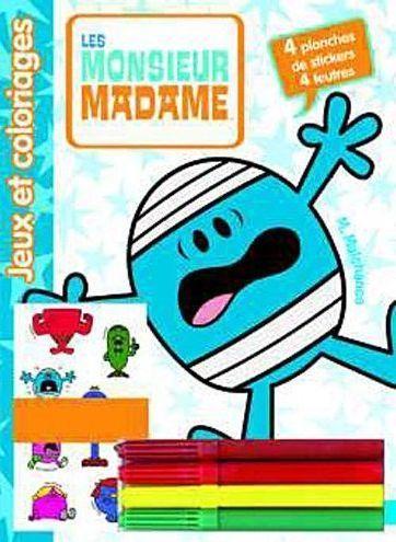 Les Monsieur Madame : Jeux Et Coloriages