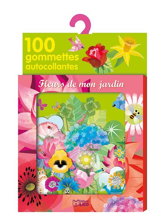 Fleurs de mon jardin ; 100 gommettes autocollantes