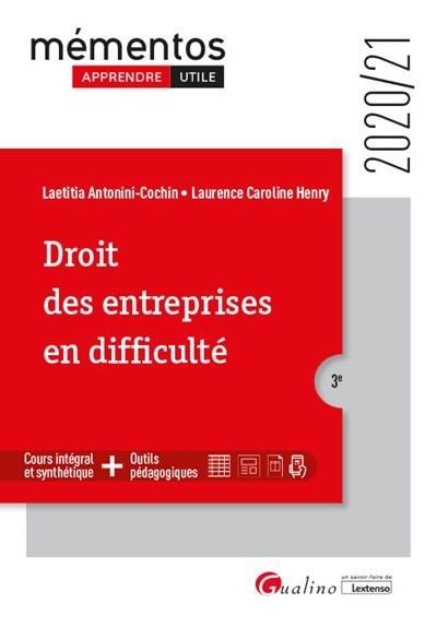 Droit des entreprises en difficulté (édition 2020/2021)