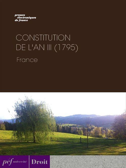 Constitution de l'an III (1795)