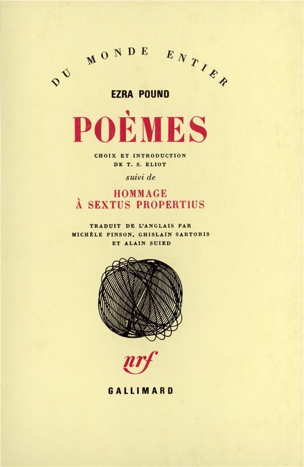 poèmes ; hommage à sextus propertius