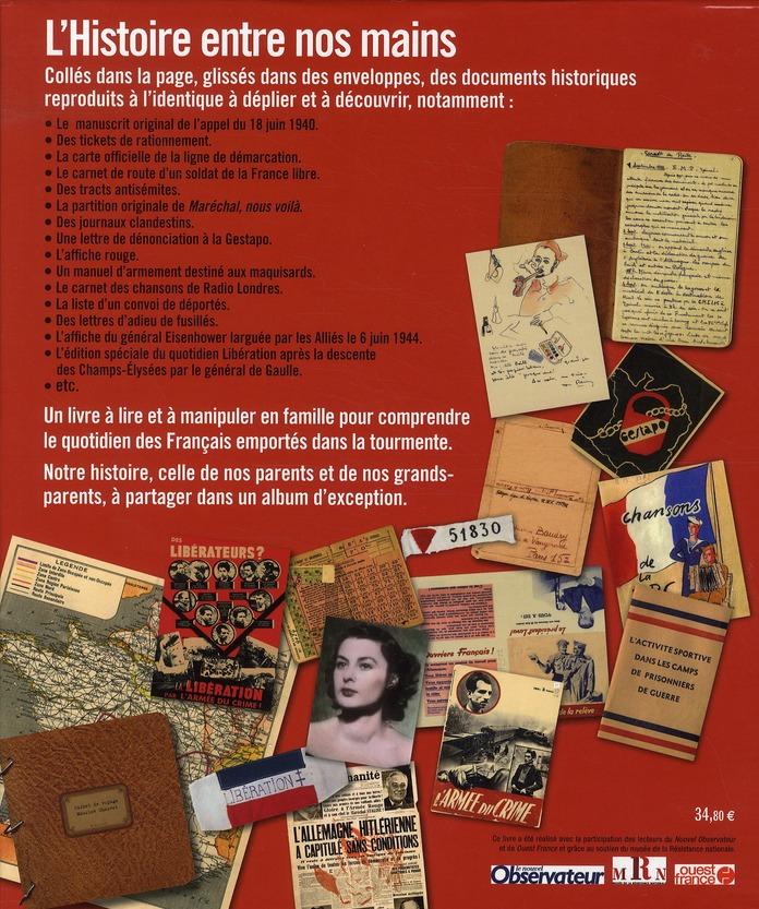 Paroles de l'ombre ; lettres et carnets des Français sous l'Occupation (1939-1945)