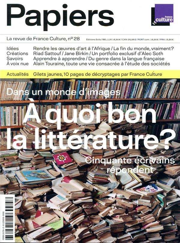 Papiers n.28 ; la revue de france culture