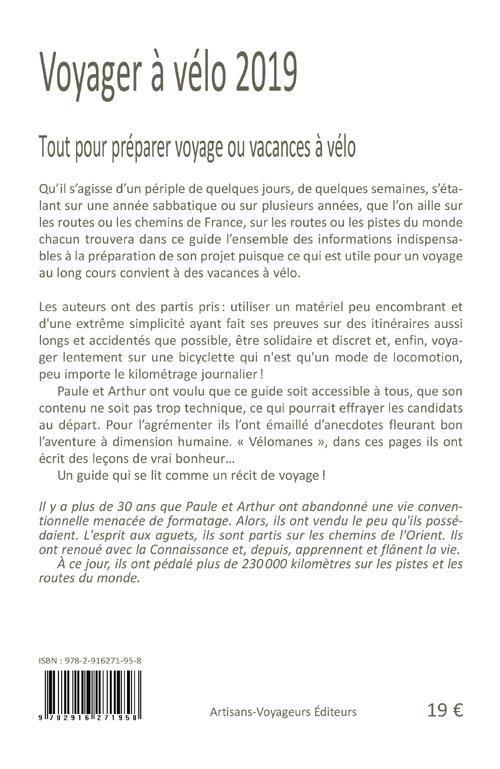 Voyager à vélo ; guide pratique du cyclo-campeur (édition 2019)