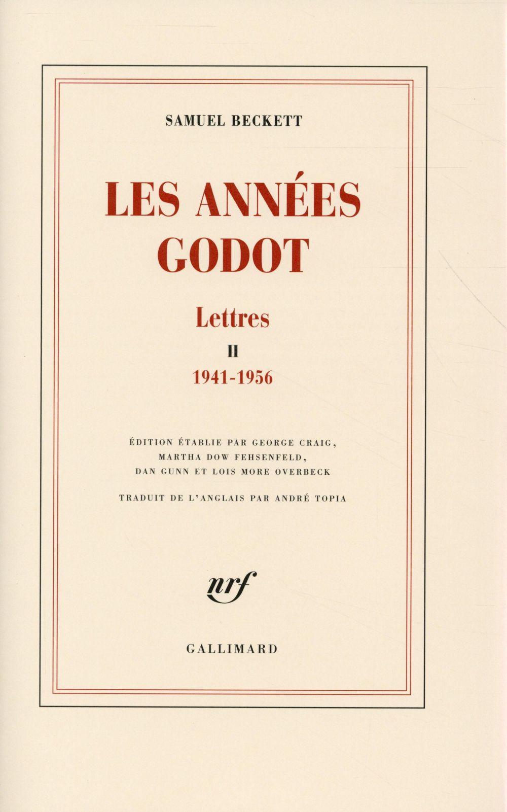 Lettres t.2 ; 1941-1956, les années Godot