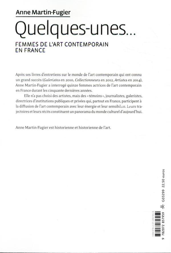 Quelques-unes... femmes de l'art contemporain en France