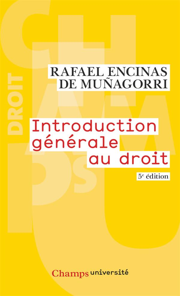 Introduction générale au droit (5e édition)