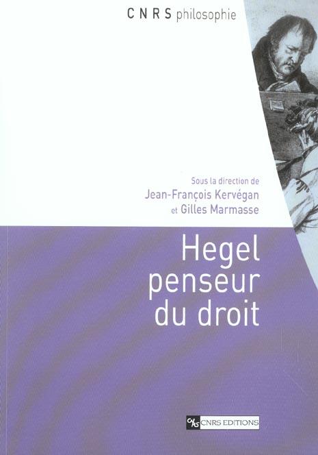 Hegel penseur du droit