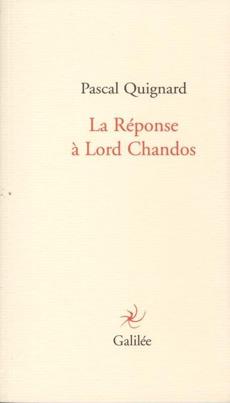 La réponse à Lord Chandos