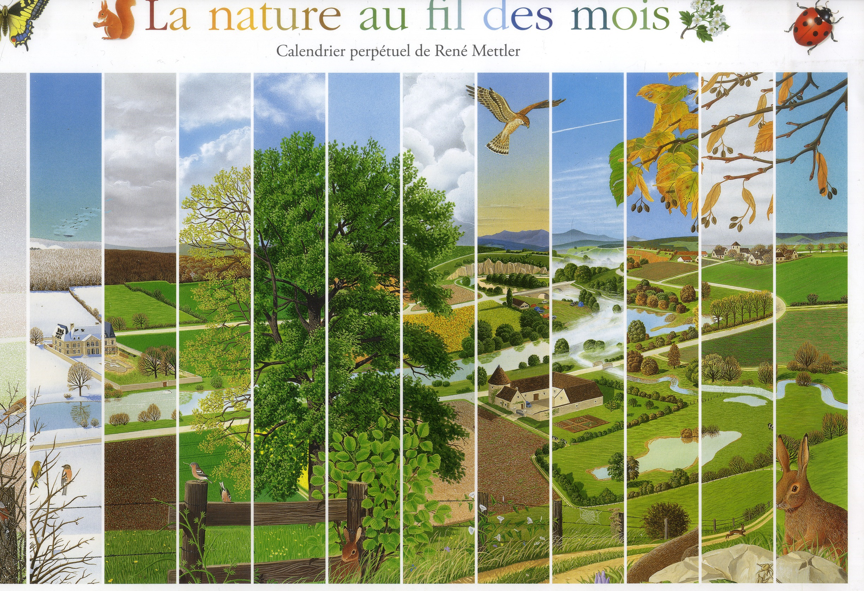 Calendrier nature au fil des mois