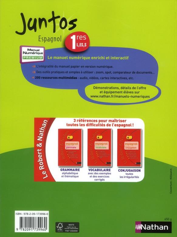 Juntos Espagnol 1ere L Es S Livre De L Eleve Edition 2011 Collectif Nathan Livre Cd Audio Librairies Autrement