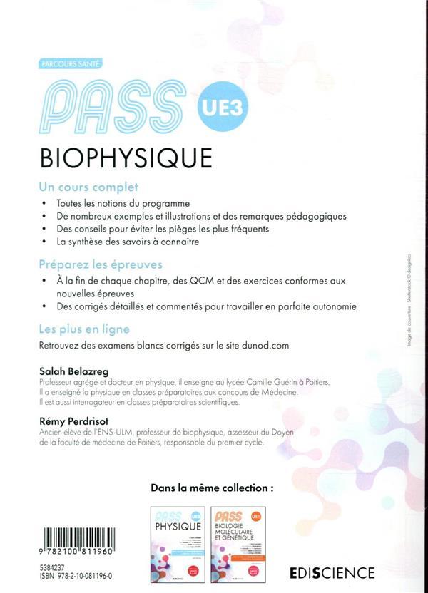 PASS UE3 ; biophysique (4e édition)