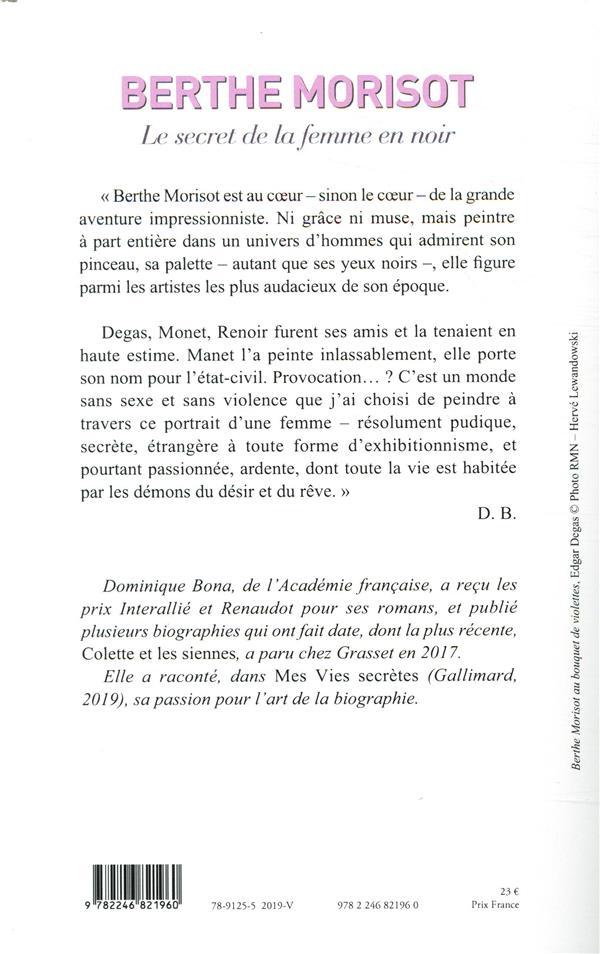 Berthe Morisot ; biographie