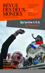 Vente EBooks : Revue des Deux Mondes octobre-novembre 2014  - Gilles Kepel - Michel Crépu - Jacques de Saint victor - Alain Juppé - Ezra Suleiman - Antoine Bello - Olivier Ro