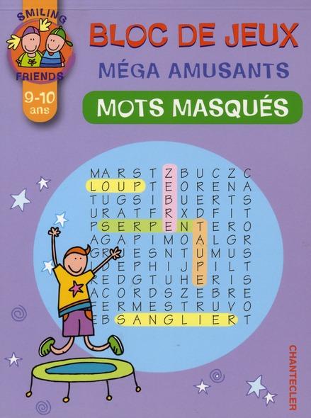 Bloc de jeux méga amusants ; mots masqués