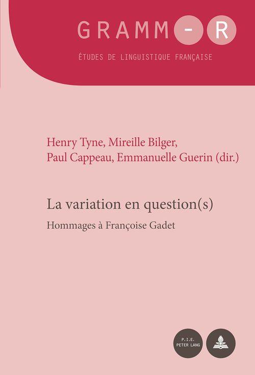 La variation en question(s) - hommages a francoise gadet