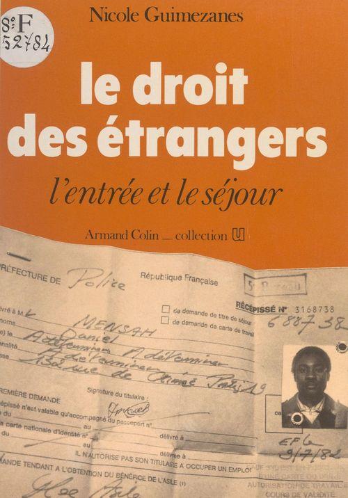 Le droit des étrangers