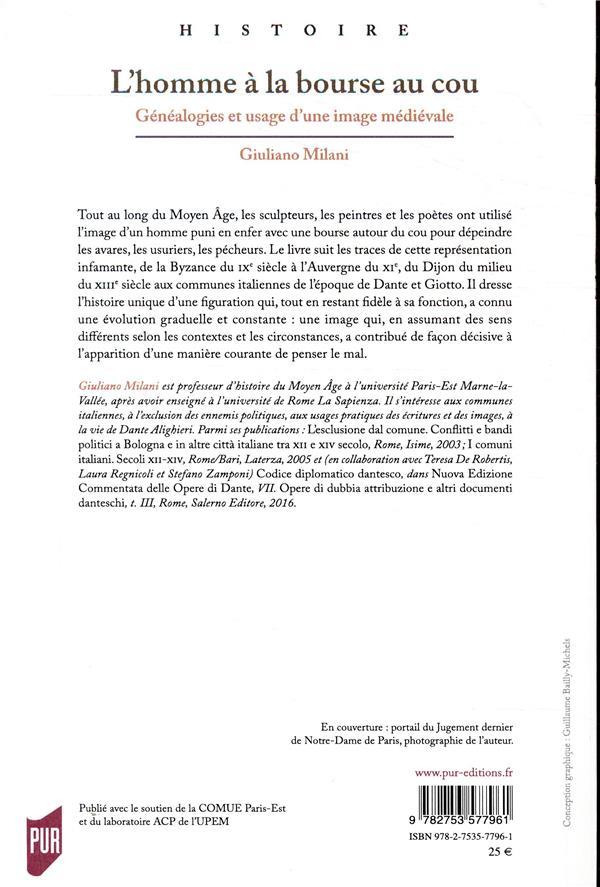 l'homme à la bourse au cou ; généalogies et usage d'une image médiévale