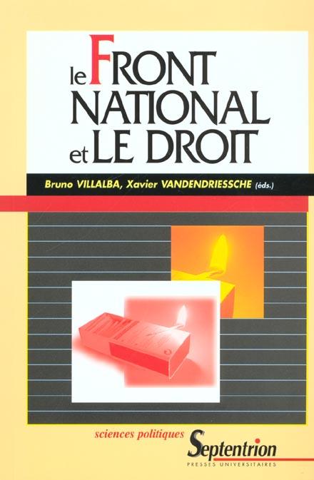 Le front national et le droit