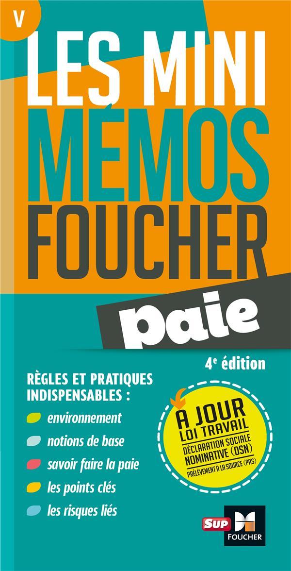 Les mini mémos Foucher T.5 ; paie (4e édition)