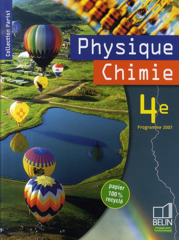 Physique-Chimie 4e 2007 Livre De L'Eleve
