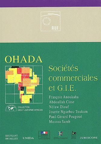 OHADA ; sociétés commerciales et G.I.E.