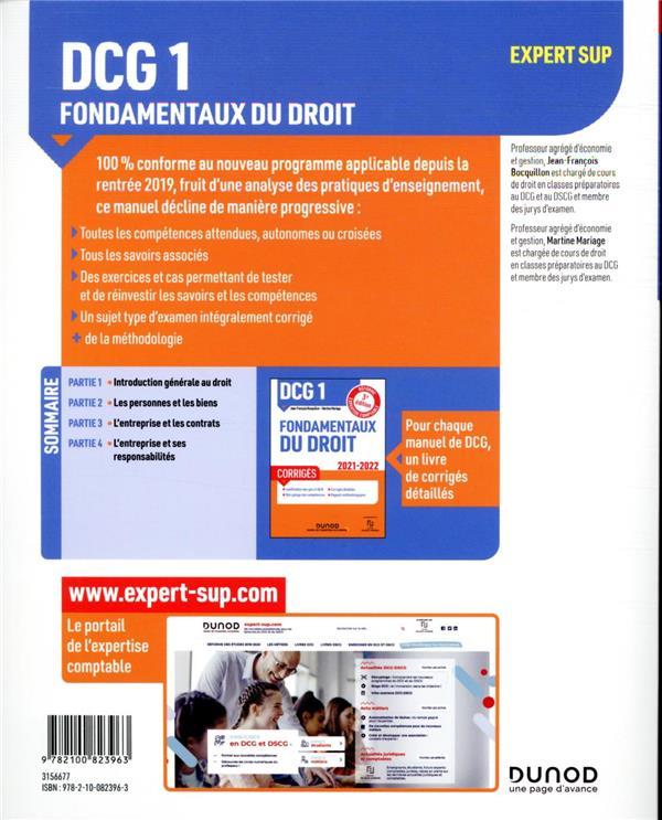 DCG 1 : fondamentaux du droit ; manuel (édition 2021/2022)