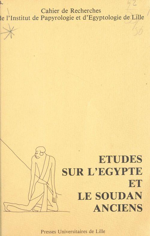 Cripel 6 : etudes sur l'egypte et le soudan anciens