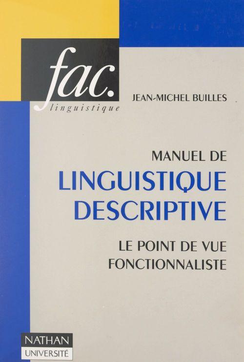 Manuel de linguistique descriptive